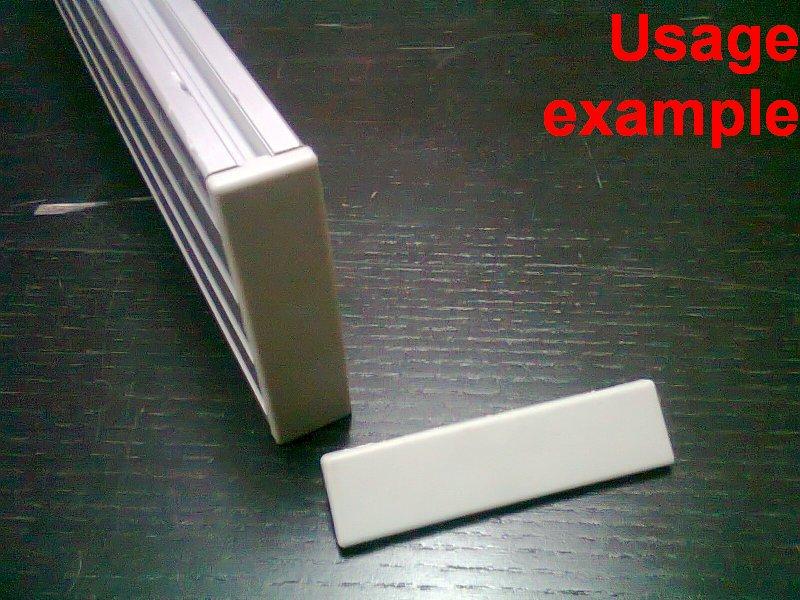Paletti Sz 00 11 S Profile End Cap Cap Cover Lid Bezel Cover 40 x 80 MM