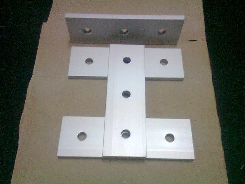 Aluminum T-slot 40x40 profile 3-hole join flat connect 120x38x6mm plate 4-pieces