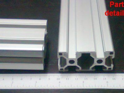 Aluminum T-slot 3060 extruded profile 30×60-8 Length 500mm(<20\